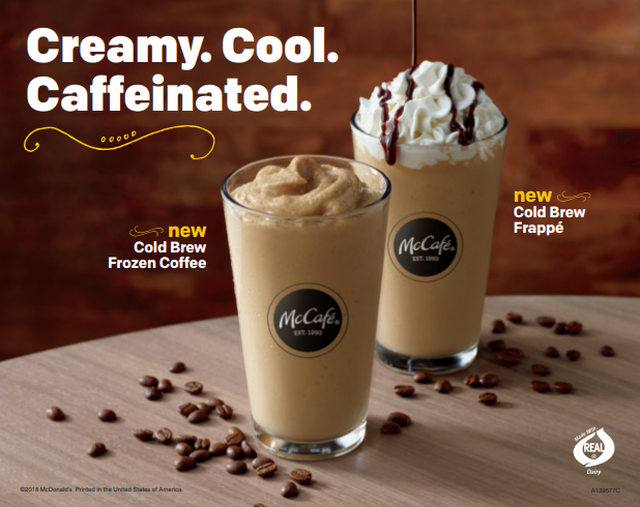 McCafé Introduces New Cold Brew Frozen Drinks