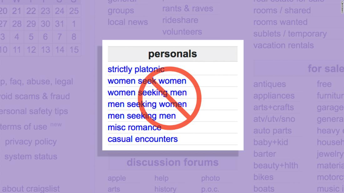 Craigslist Removes 'Personals' Section After Congress Passes Sex Trafficking Bill